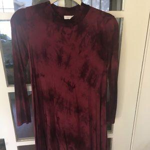 Vestique tie-dye midi swing dress